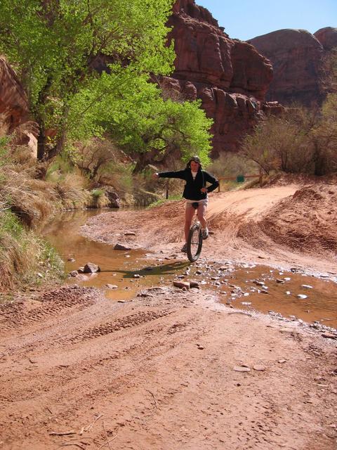 Carol starting out on Amasaback Trail