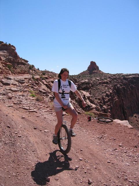 Carol riding Amasaback Trail